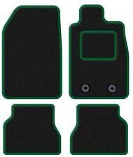 VW GOLF PLUS 2007-2010 Su Misura Nero Tappetini Auto con finitura verde