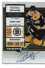 2010-11 Playoff Contenders Jordan Caron Rookie Autograph Boston Bruins