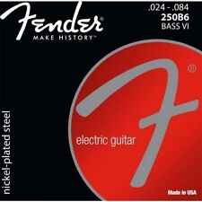 073-0250-413 Fender 250B6 Nickel Roundwound Bass VI Strings .024-.084 Six String