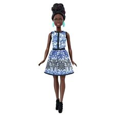BARBIE FASHIONISTAS 2015 BLUE BROCADE #25 DMF27 PETITE AA *NEW*