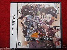 Emblem of Gundam (Nintendo DS, DSI, 2DS, 3DS, NDS 2008) JAPANESE Mecha
