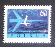 POLAND STAMPS MNH 1Fi971 Sc863 Mi1115 - Polish Airlines LOT, 1959, clean
