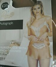 MARKS AND SPENCER ROSIE FOR AUTOGRAPH SILK AND LACE CAMISOLE SIZE 6 £35