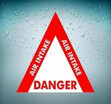 Sticker decal macbook car airplane aircraft airport plane air intake danger