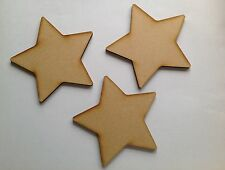 10 x Large wooden Stars 10cm blank craft shapes