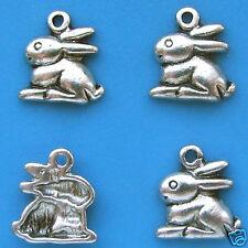 10 x Tibetan Silver Rabbit Charms Pendant
