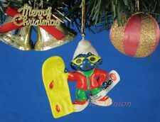 Decoration Ornament Xmas Tree Party Home Decor Toy Schleich Smurfs Surfing *K560