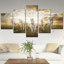 5Pcs Running Horse Abstract Picture Canvas Painting Art Home Wall Decor On Frame