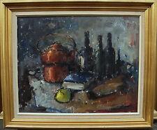 Evan Wulff  *1914, Stillleben mit Flaschen, datiert 1965