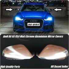 NEW Audi A6 S6 RS6 2012 On Chrome Aluminium Wing Mirror Covers C6 4G Quattro