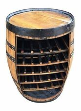 "Solid Oak Whisky Barrel ""Cork"" Wine Rack 