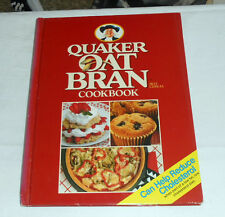 QUAKER Oat Bran Cookbook (1989 Hardcover w/spiral binding) fat-modified diet