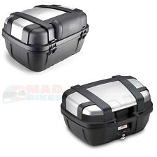 GIVI TRK52N TREKKER MOTORCYCLE LUGGAGE TOP BOX 52L + E133S BACKREST