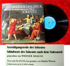 LP Werner Krauss Verteidigungsrede des Sokrates