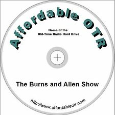 THE GEORGE BURNS AND GRACIE ALLEN SHOW. 278 OLD TIME RADIO (OTR) SHOWS ON DVD
