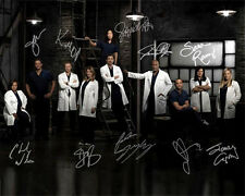 Grey's Anatomy Season 10 Full Cast Signed Photo Autograph Reprint Ellen Pompeo