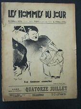 Les Hommes du Jour  Le Journal du Peuple  11 juillet 1935 – N°21 -Nouvelle série