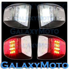 Chevy Tahoe+Suburban White LED License Plate+Red LED Rear Running+brake Lights