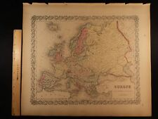 1855 1st COLTON Atlas Color Map EUROPE France Spain Russia England Italy 14x17in