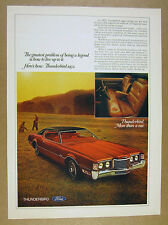 1972 Ford Thunderbird hardtop red t-bird car photo vintage print Ad