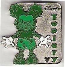 SILVER MICKEY MOUSE Disney TOPIARY TREES SERIES Hidden Mickey CAST LANYARD PIN