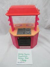 1980's Barbie Dream House REPLACEMENT Pink RANGE STOVE OVEN w/ HOOD. Flawed.