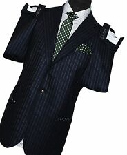 SALVATORE PICCOLO NAPOLI £1000 NEW MENS BLUE STRIPED BLAZER SUIT JACKET! UK 44R!
