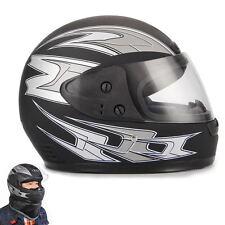 Negro Casco para motocicleta Motos Scooter Vespa Integral Modular Visera