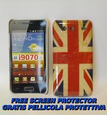 Pellicola+custodia BACK COVER UK FLAG VINTAGE per Samsung I9070 Galaxy S Advance