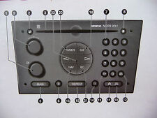 Vauxhall Audio NCDR 2011 SIEMENS  manual Radio Operation Instruction Book