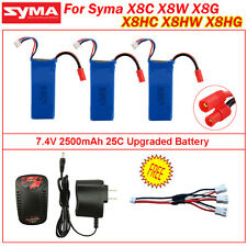 3x7.4V 2500mAh High Capacity Lipo Battery+Charger for Syma X8C X8W X8G RC Drone
