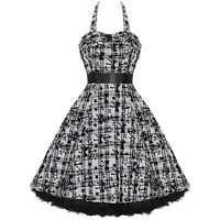 Ladies New Hearts & Roses London Purple White Tattoo Punk Emo Prom Party Dress