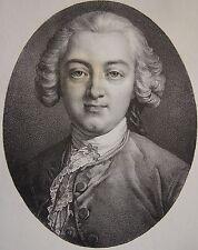 HELVETIUS CLAUDE ADRIEN . Portrait, lithographie de 1821,