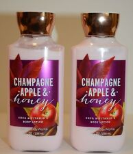2 Bath & Body Works Champagne Apple & Honey shea vitamin E Body Lotion 8 oz new