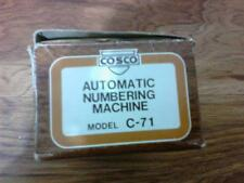 Cosco Automatic Numbering Machine C-71 Model with Box!