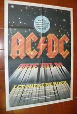 POSTER AFFICHE AC-DC THE FILM LET THERE BE ROCK BON SCOTT M.YOUNG CLIFF WILLIAMS