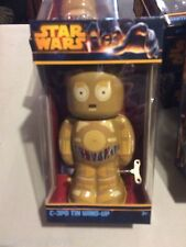 2014 Schylling Star Wars C-3PO Droid Collector Retro Windup Tin Toy Space MIB