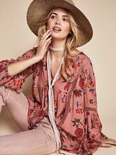 NWT FREE PEOPLE JUST THE TWO OF US BOHO MINI DRESS TUNIC TOP SIZE L LARGE $118