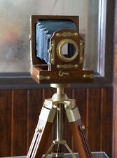 Vintage Designer Wooden folding Camera with Tripod Retro Look - Shooting Camera