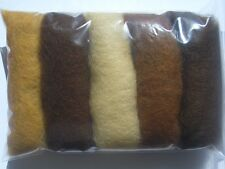 Carded wool fiber for felting crafts-15grams-5C#170 soap, stone, needle felting