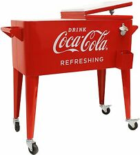 80-Quart Retro Coca-Cola Cooler Refreshing Stainless Steel bottle opener NEW