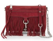 Rebecca Minkoff Port Suede Fringe Mini M.A.C. Crossbody Bag MSRP: $195
