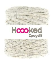 Hoooked Zpagetti T-shirt Jersey Yarn 120m Crochet Knitting Sprinkled Cream
