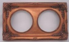 Gilt Solid Wood Picture Frame - Double Aperture - Overall Size 52.5cm x 30.5cm