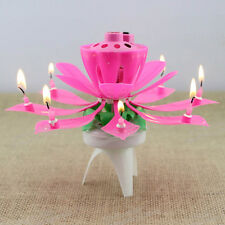 New Birthday Candle Rotating Magical Flower Musical Party Decoration Gift