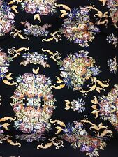 Designer Heavy Stretch Jersey Print Large Floral Multicolour Wedding Light