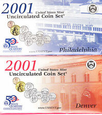 2001 US MINT UNCIRCULATED SET CONTAINS 20 COINS