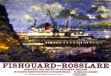 Fishguard Rosslare shorest sea route to southern ireland Western   Poster Print