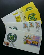 Malaysia Golden Jublee Of The Raja Of Perlis 2001 King Royal Leader (FDC pair)