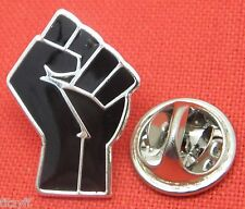 Raised Clenched Fist Lapel Pin Badge Resistance Solidarity Mandela Power Salute